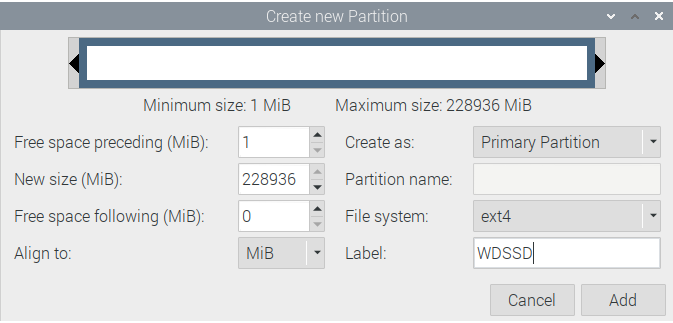 Partition GParted