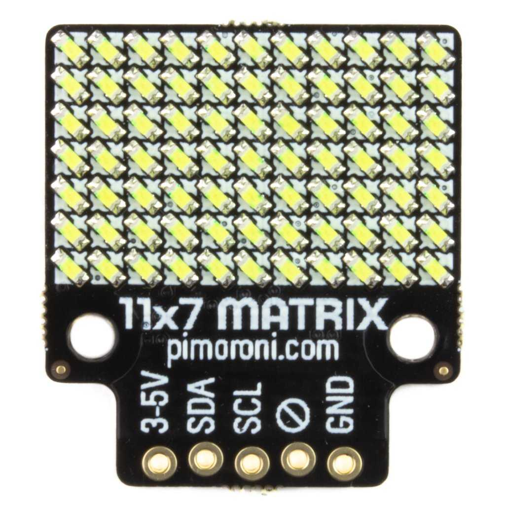 Modification d'une bibliothèque Adafruit CircuitPython pour prendre en charge le Pimoroni 11x7 LED Matrix Breakout sur le Raspberry Pi Pico